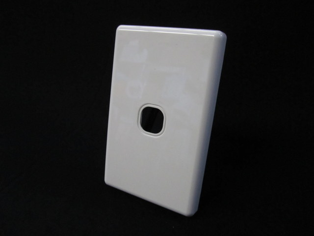 Switch mounting plate & cover 1 gang (white)