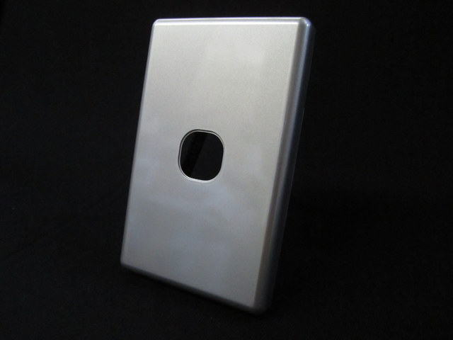 1 gang to 6 gang switch silver plate PVC, Thin series