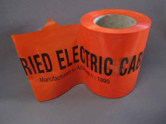 Underground marker tape Orange 150mm x 100m